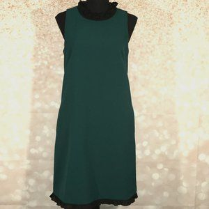 J Crew Womens Ruffle Neck Pullover Midi Dress Sz 4
